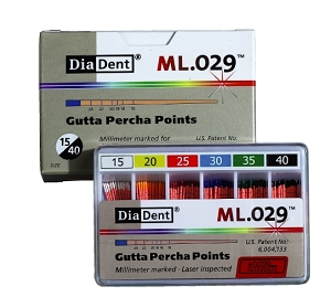 DiaDent ISO Standard Gutta Percha Millimeter Marked - Spill Proof, & Vial