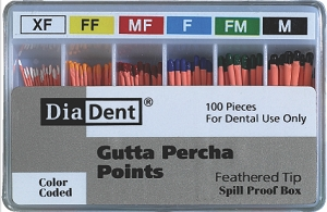 DiaDent Feathered Tip Gutta Percha - Spill Proof