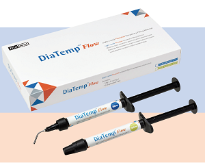 DiaDent DiaTemp Flow Light Cured Flowable Temporary Restorative Material (Low viscosity)