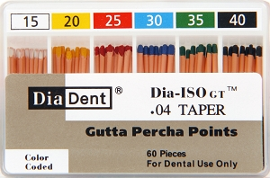 DiaDent Gutta Percha ISO Greater Taper Millimeter Marked - Spill Proof
